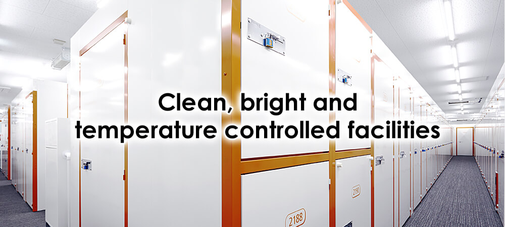 Clean, bright and temperature controlled facilities